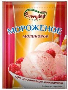 Десерт сухой EVERYDAY для мороженого аромат малины 55г