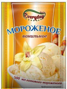 Десерт сухой EVERYDAY для мороженого аромат ванили 55г