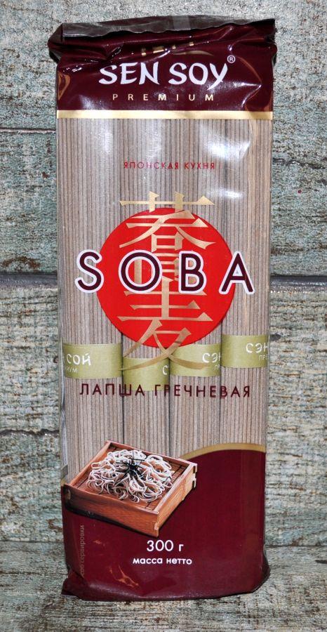 СЭН-СОЙ Гречневая лапша «SOBA»  пакет 300гр